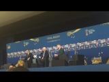 Вице-премьер РФ Виталий Мутко на пресс-конференции перед жеребьёвкой чемпионата мира по футболу 2018 года