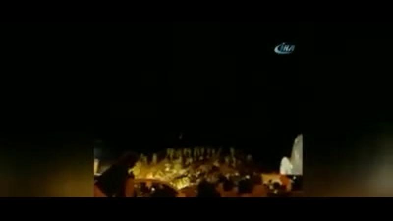 Вертолет АТАК уничтожает позиции боевиков, а муджахиды СНА кричат Аллаhу Акбар!