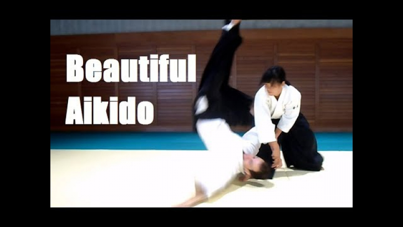 Сильная и красивая Хироми Матсуока, 4 дан Айкидо