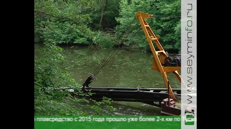 В Курске продолжают чистить реку Тускарь