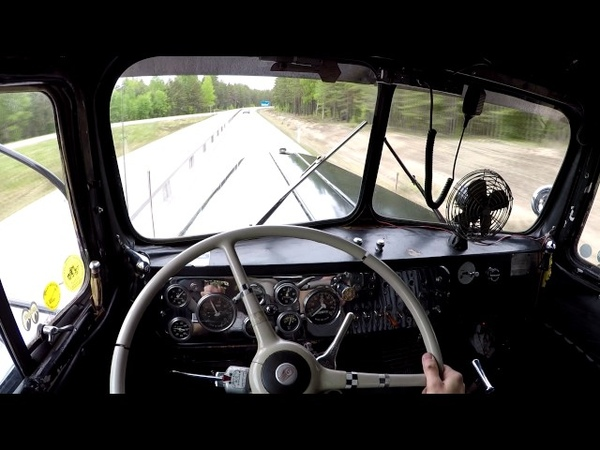 Take a ride in the 1950 Kenworth Shifting and Cummins sound