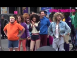 Zac Efron  Zendaya Coleman Jump On Top Of A Cab While Filming A Skit With James Corden In NY - YouTube