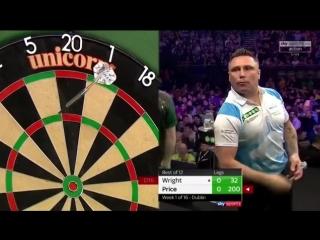 Peter Wright vs Gerwyn Price (2018 Premier League Darts / Week 1)