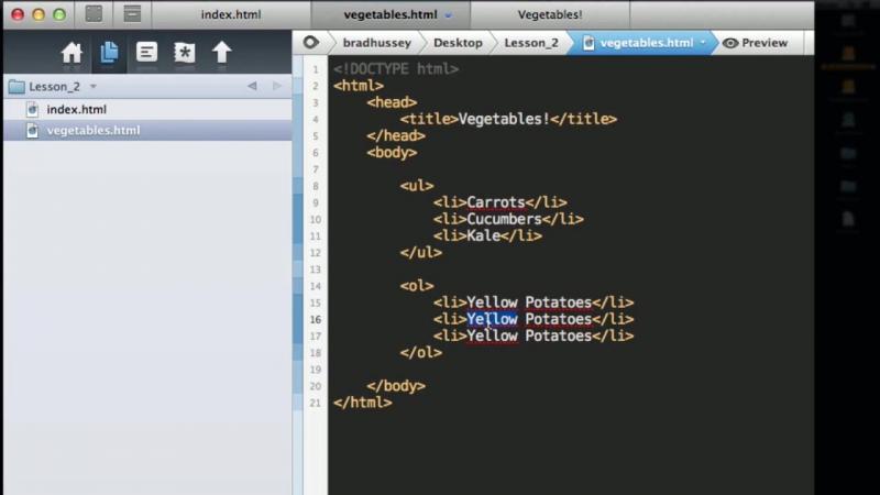Урок 11 Списки в HTML