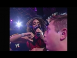 WWE No Mercy 2006 - Theodore Long gave Mike Mizanin a present for his 26th birthday — Layla El showed up to give The Miz a lap d