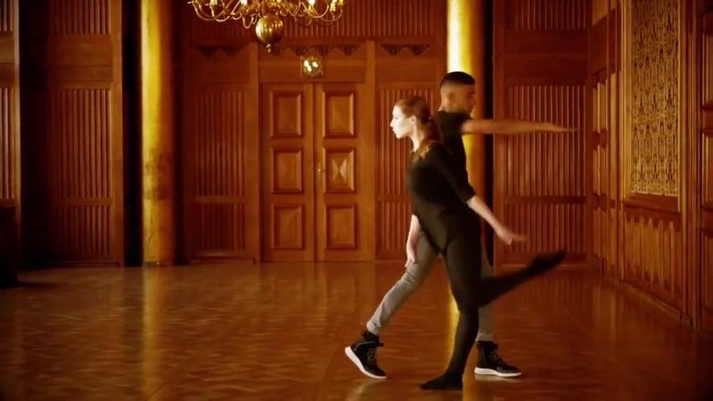 Сочетание хип-хопа с балетом (6 sec)