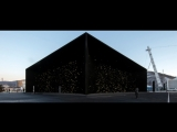 Asif Khan reveals super-dark Vantablack pavilion for Winter Olympics 2018