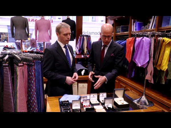 Tie Etiquette: The Royal Butler Visits Dege Skinner bespoke tailors, Savile Row in London