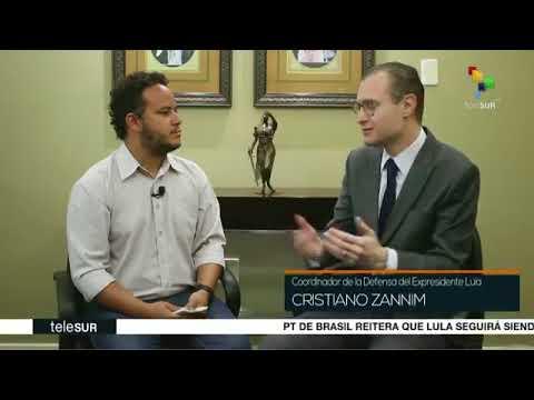 Entrevista do Dr. Cristiano Zanin Martins à Telesur TV