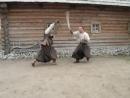 Запорожские казаки. Работа саблями
