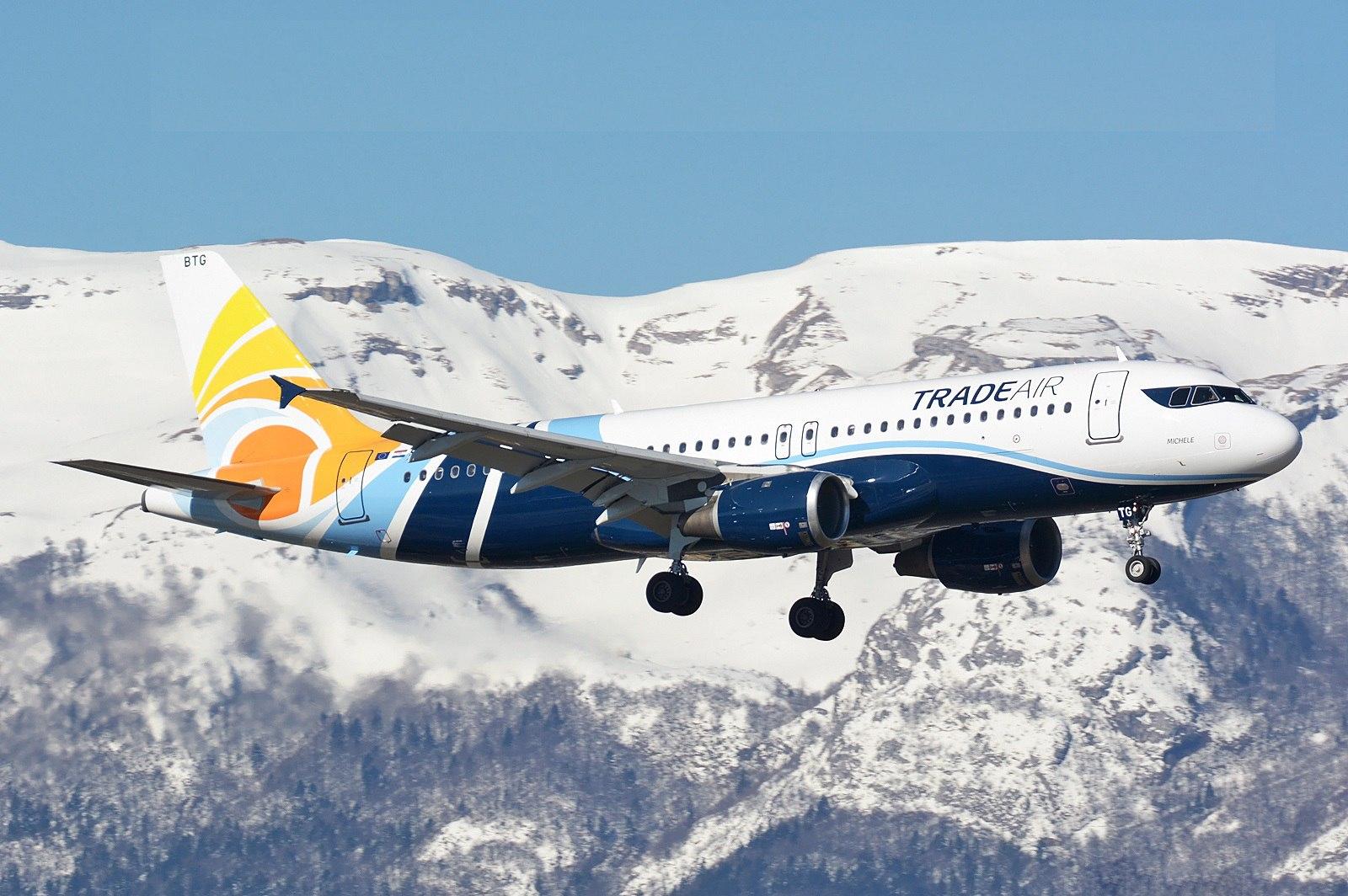 Airbus A320 в ливрее хорватской Trade Air