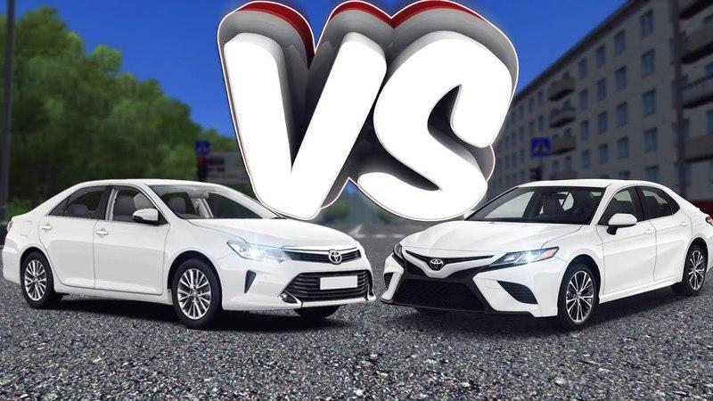 Состязание между ЯПОНЦАМИ CAMRY V55 VS CAMRY 2018 RP ЖИЗНЬ City Car Driving