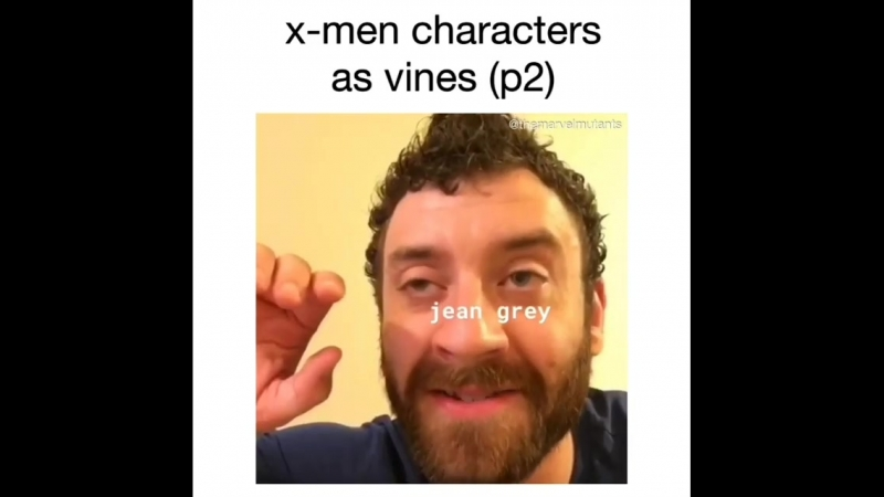 Xmen characters as vines