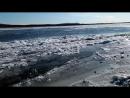 Ледостав на реке Амур, Комсомольск-на-Амуре, Хабаровский край.