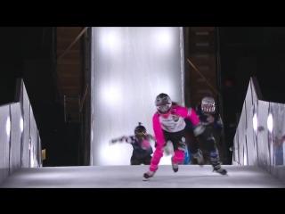 Who won Red Bull Crashed Ice 2018 France - Womens Winning Run.