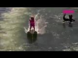 Малышка побила мировой рекорд на водных лыжах