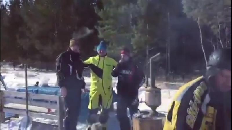 Масленица в Костанае сжигание чучела блины самовар катания на снегоходах и квадроциклах Всё в традициях BRP
