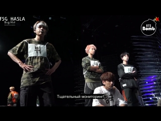 [RUS SUB][BANGTAN BOMB] BTS standby time @ Mcountdown for DNA&MIC Drop comeback stage - BTS