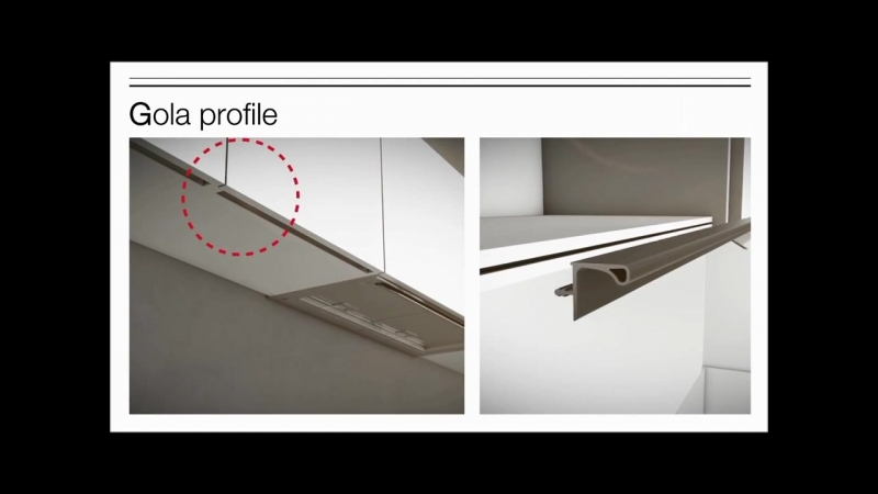 Система профилей для мебели без ручек Gola Profile