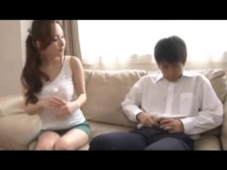 Asian japanese milf demonstrated sex to boy