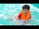 Xavi and Momy Play at the WaterPark Baara Land Artificial beach! Outside fun day with Family Fun