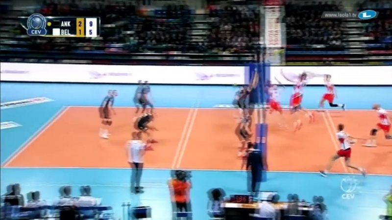 TOP 20 » Monster 3rd meter spike. Volleyball Champions League.