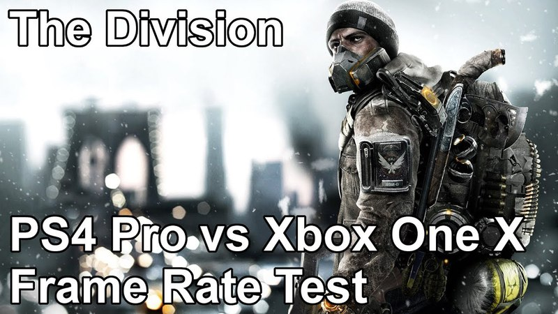 The Division PS4 Pro vs Xbox One X Frame Rate Test