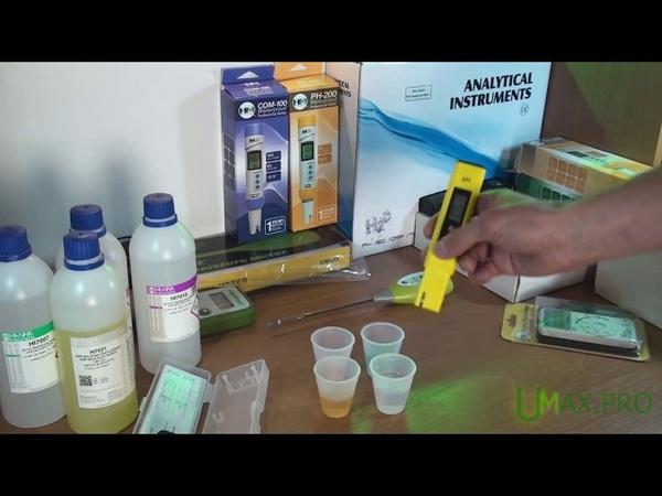 Видео обзор рН метра PH 02 особенности калибровки прибора