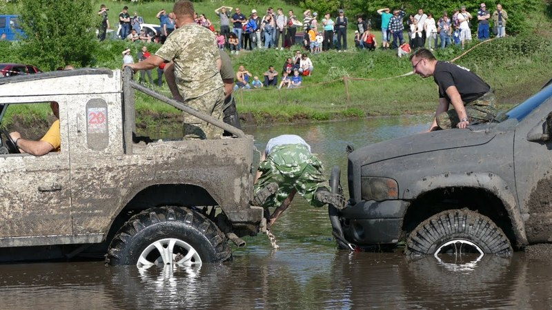Dodge RAM НЫРНУЛ минус ДВА ШАТУНА OFF ROAD 4x4 MONSTER TROPHY-2018 Прилуки