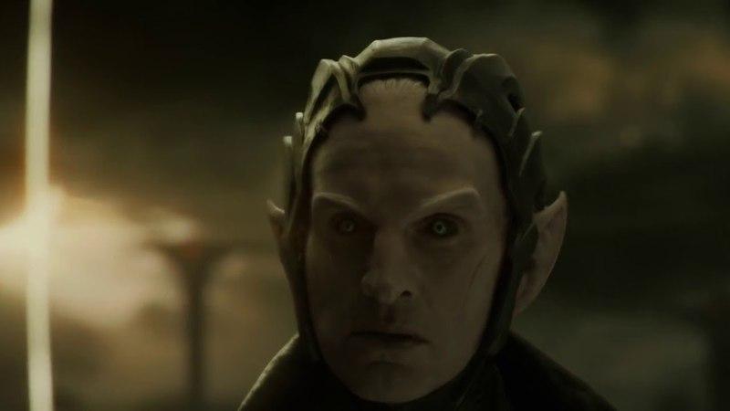 Асгардцы против Темных Эльфов Вступительная сцена Тор 2 Царство тьмы