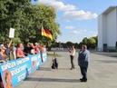 VOR ORT AKTUELL - MERKEL-MUSS-WEG-MITTWOCH VOM 25.JULI IN BERLIN - MITTE.