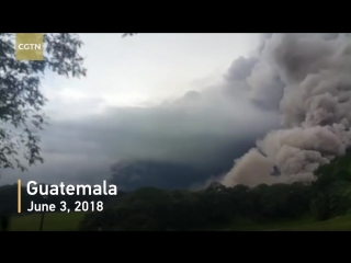 второе за 2018 г. извержение вулкана Фуего в Гватемале