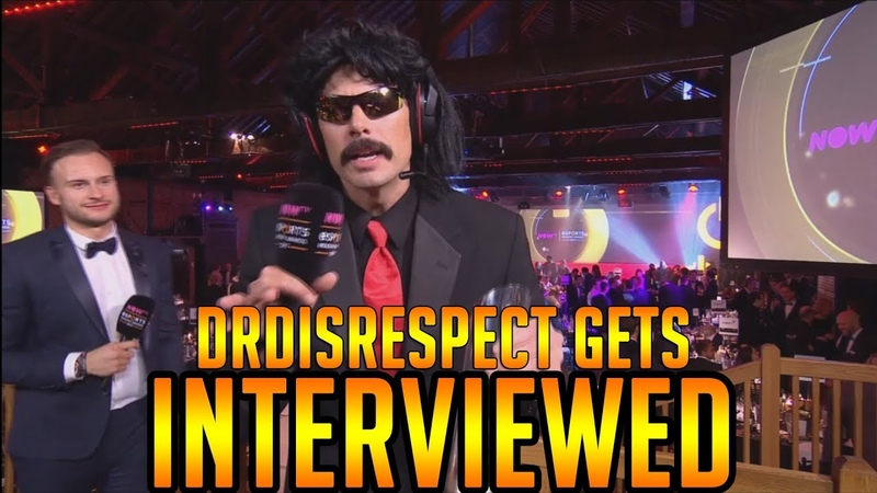 DrDisrespects Hilarious Interview at the E-sports Awards!! (w Chat)