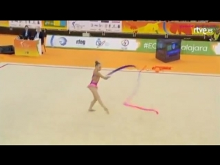 Yana Striga ribbon qualification European Championships