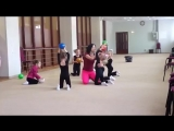 SLs Гимнастика для начинающих. Тренировка с мячом, кольцо, мостик, растяжка, шпагат