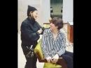 Хичоль и парикмахер :)