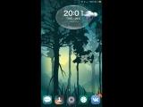 Вот такая темка у меня на телефоне. На улице идёт дождь с гразой она все показывает на экране.