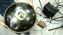 Omana handpan, amplified with external active Orbis Mage pickups