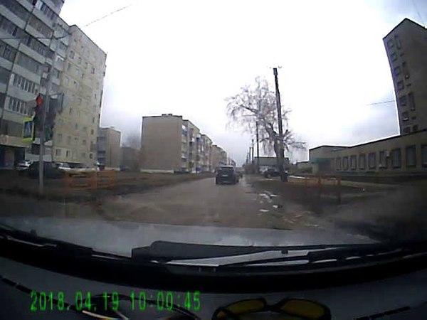 на красный сигнал светофора