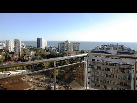 ЖК Фальконе вид из окон 19 этажа на море и на город Сочи
