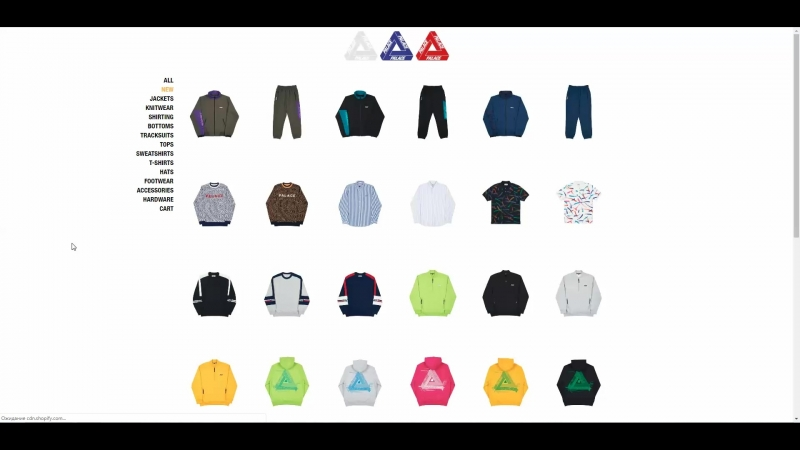 PALACE - SPRING 2018 - Retail Price and Sold Out Items