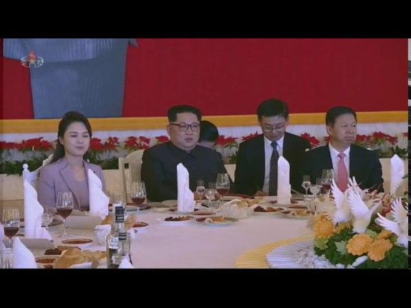 경애하는 최고령도자 김정은동지께서 중국공산당 중앙위원회 대외련락부