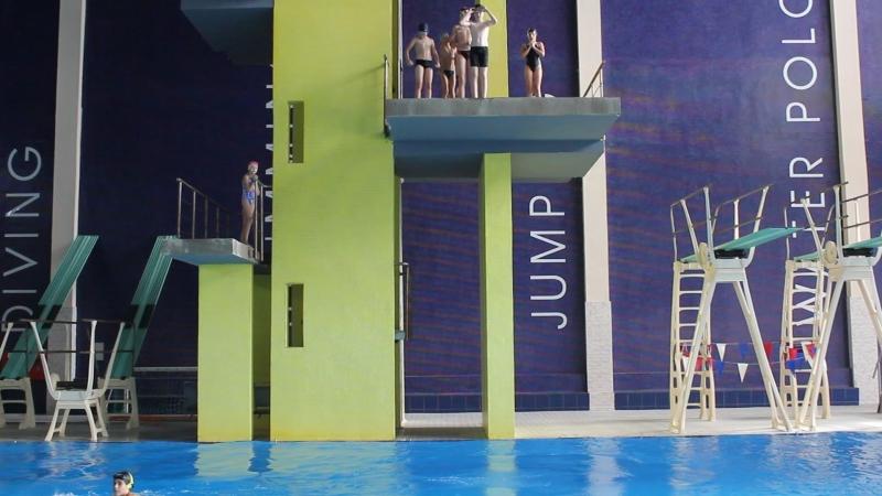 сборы в Пинске Тренировка в прыжковом басейне
