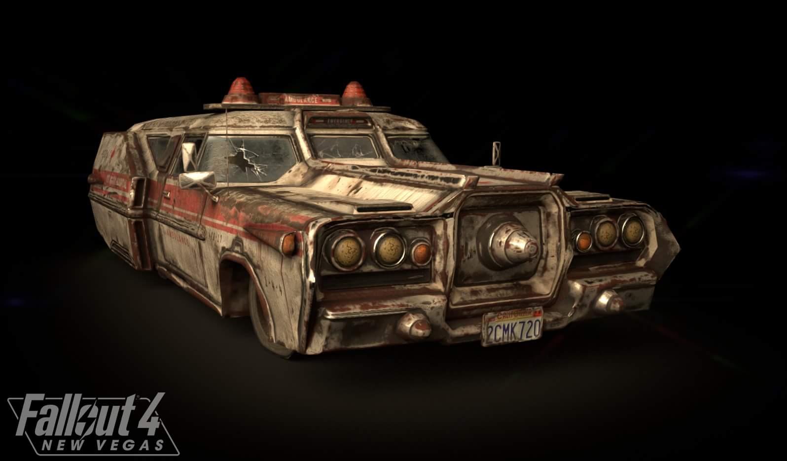 Разработчики Fallout 4: New Vegas продолжают работу над игрой, и на этот раз они предоставили модель автомобиля скорой помощи: