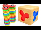 Learn Colors With Fidget Spinner Magic Wooden Box &amp Suprise Eggs For Kids Learning Video For Babies
