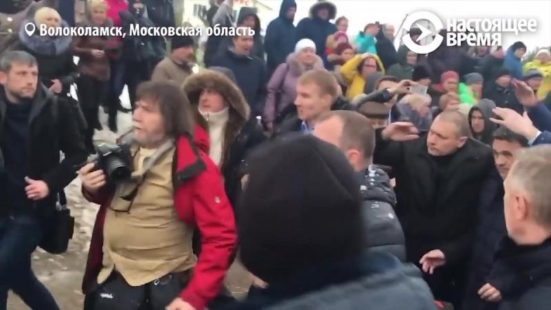 Volokolamsk - snowball in the governor Vorobyov