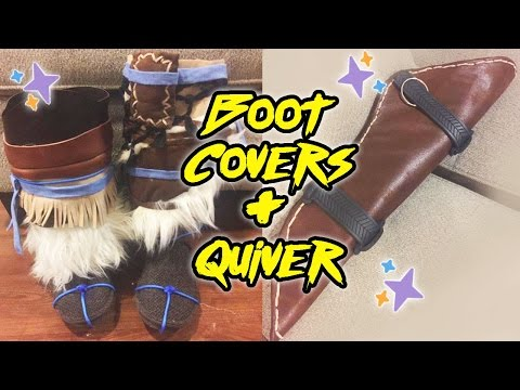 Making a Quiver Boot Covers! [Aloy from Horizon Zero Dawn]