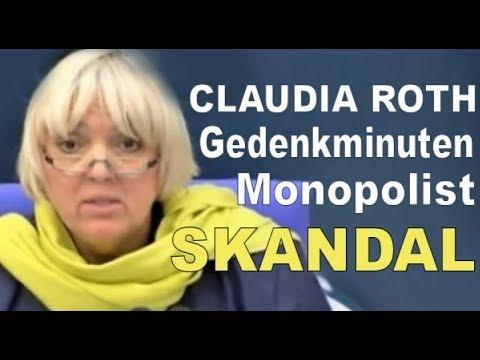 Claudi Gate : Roth veranstaltet Gedenkminute - Claudia Roth GRÜNE HD