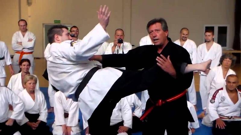 Soke Silvano Rovigatti 9 DAN - Ju Jitsu - Spiega una tecnica da calcio