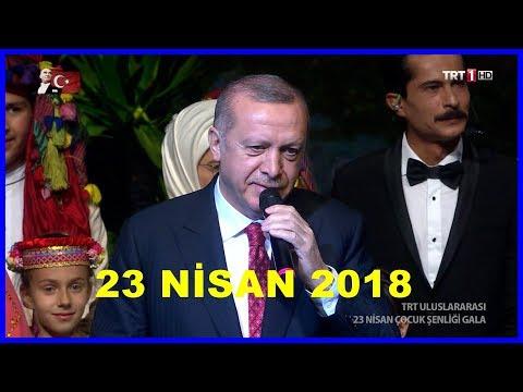 Cumhurbaşkanı Erdoğanın 23 Nisan Programında Dünya Çocuklarına Konuşması 23.4.2018